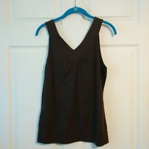 Michael Kors brown Sleeveless V neck top shirt
